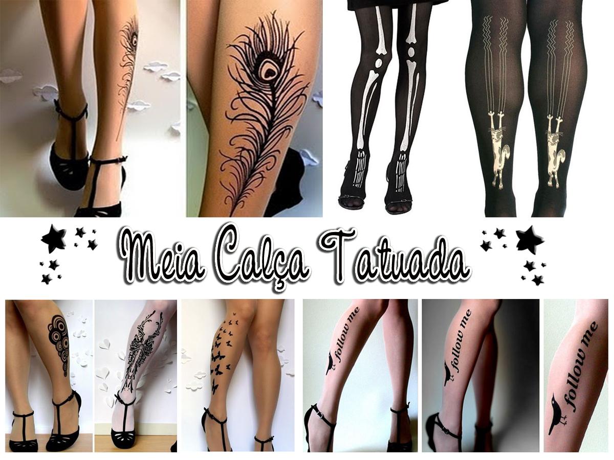 c2eda21eb Meia Calça Tatuada - Usa ou Pula  - Andreza Goulart!
