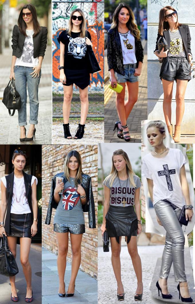 t-shirt glam