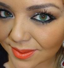 Makeup Tutorial Balada, Glitter 3D Silver + Batom Morange