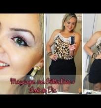 Maquiagem com Glitter + Look Do Dia