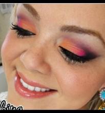 Maquiagem Tangerine e Pink #ColorBlocking