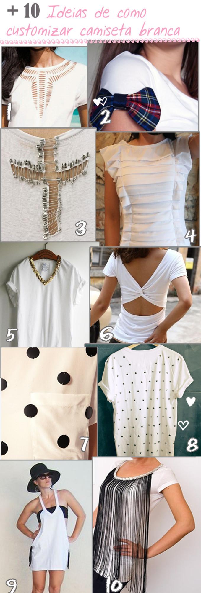 diy t-shirts branca