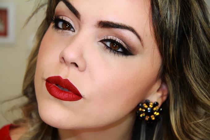 ... Goulart! » Maquiagem para se usar com Vestido Vermelho #Tutorial
