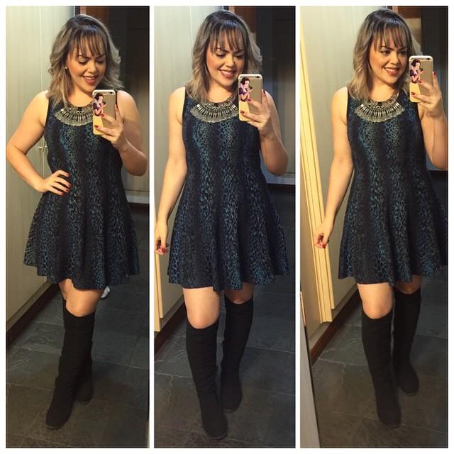 4bfd214be Dicas para usar vestido com bota #ModaDaLila - Andreza Goulart!