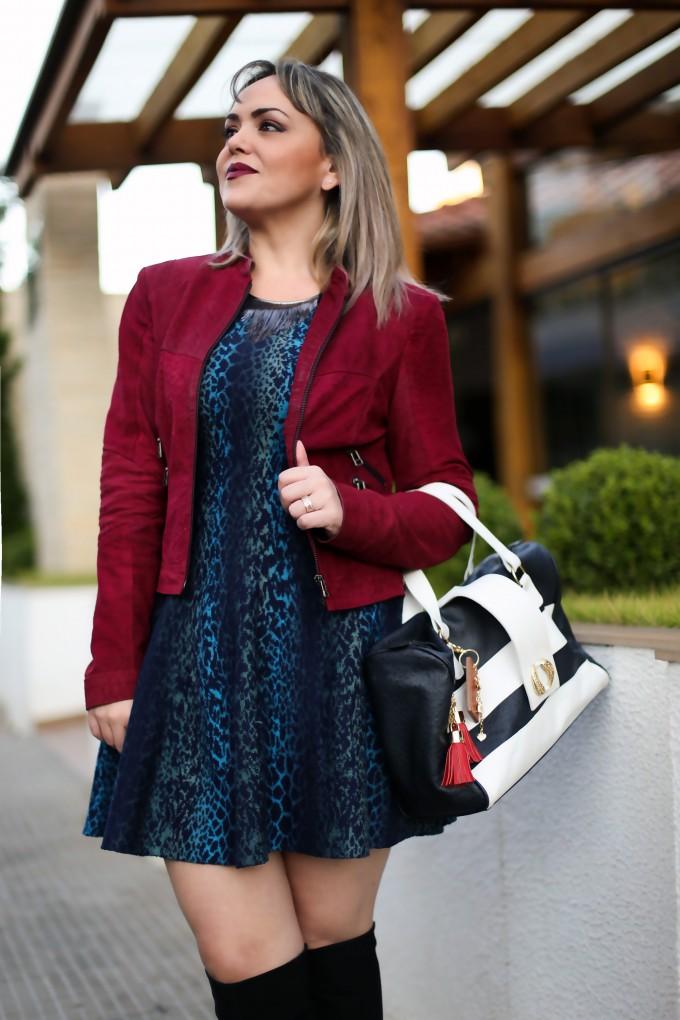 look vestido tricot
