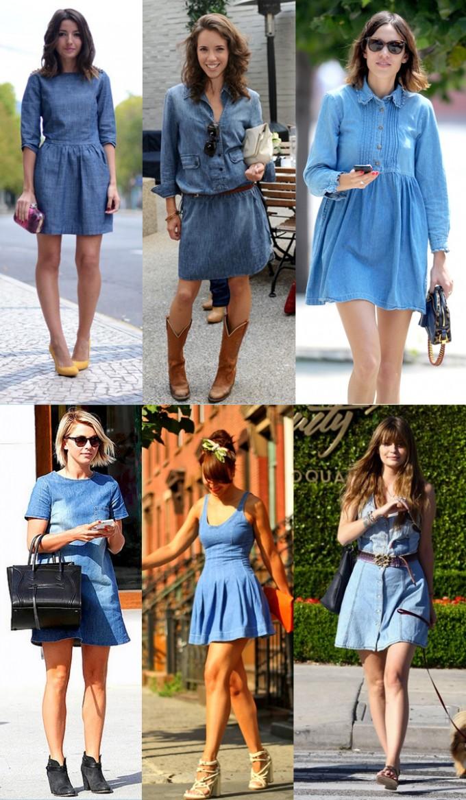 Como combinar un vestido en jeans