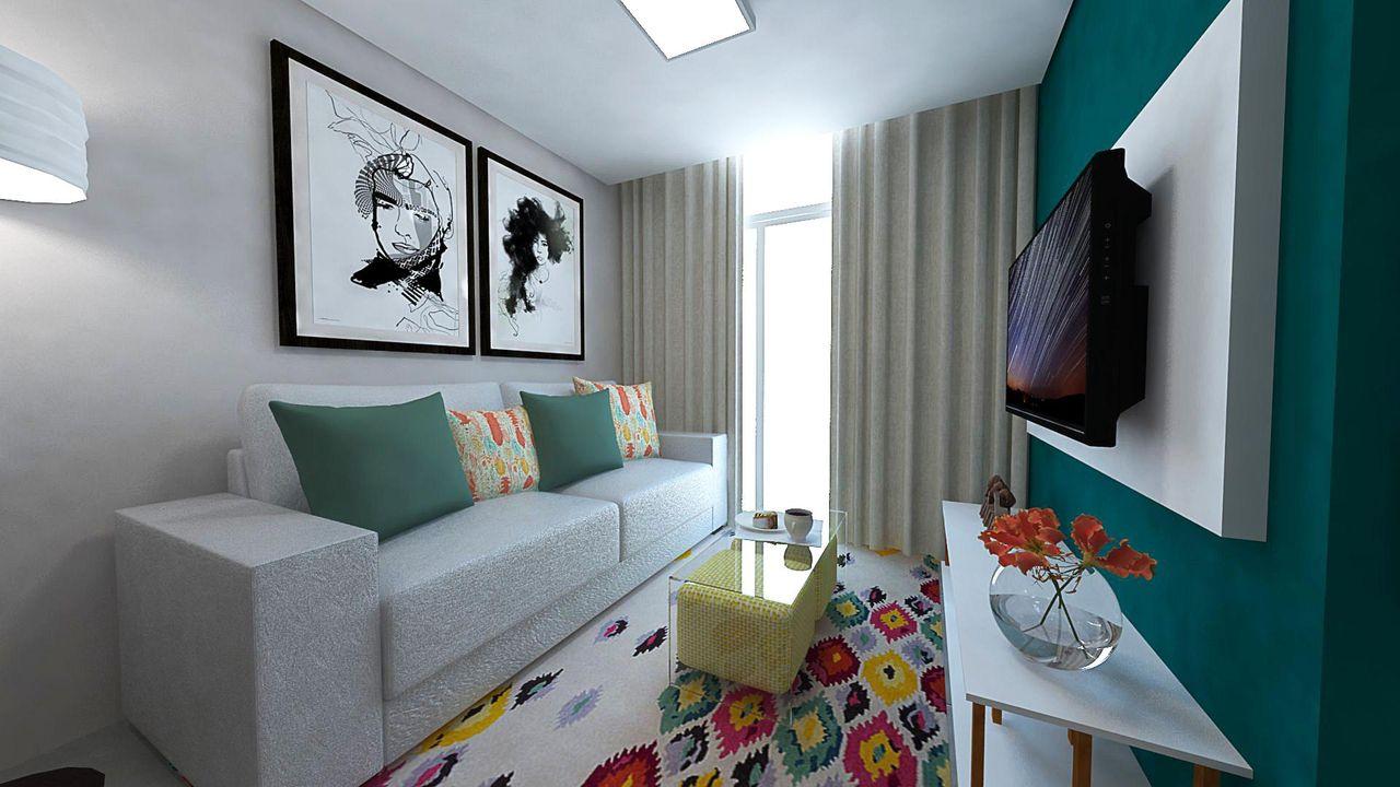 Dicas de como decorar uma sala pequena andreza goulart for Salas de estar modernas y pequenas