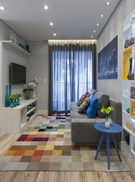 Como Decorar A Sala De Estar Com Tapete : Dicas de como decorar uma sala pequena andreza goulart