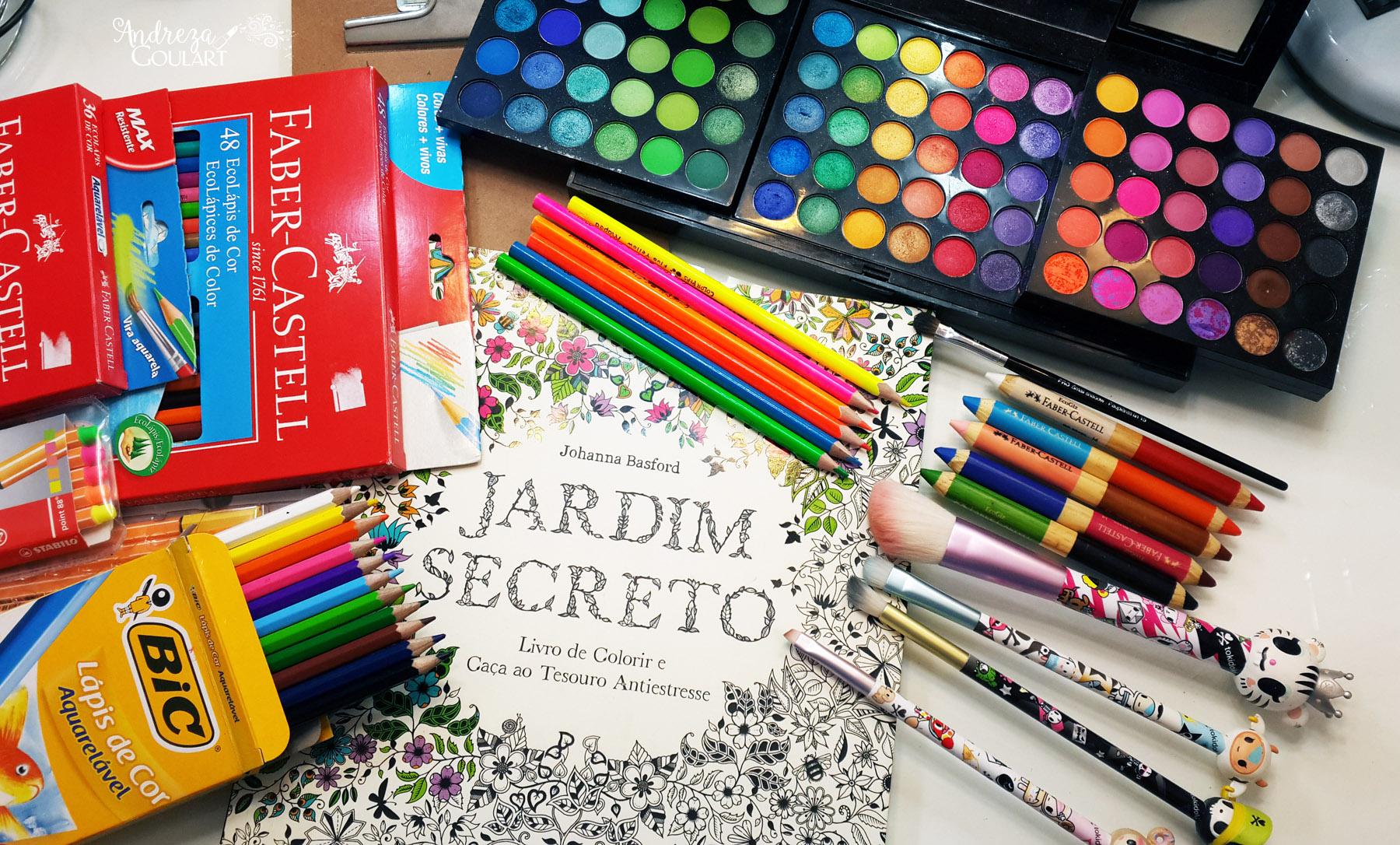 Qual Jardim Secreto Ou Floresta Encantada Colorir Com Maquiagem